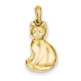 Cat Pendant 14k Gold K1989