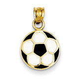 Enameled Soccer Ball Pendant 14k Gold K2088