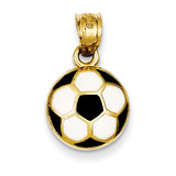 Enameled Soccer Ball Pendant 14k Gold K2089