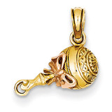 Baby Rattle Pendant 14k Two-Tone Gold K2311