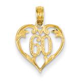 60 Heart Pendant 14k Gold K2616