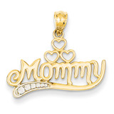 Rhodium Mommy Pendant 14k Gold K2635
