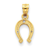Horse Shoe Pendant 14k Gold K2741