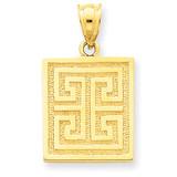 Greek Key Pendant 14k Gold K2799