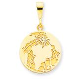 Globe Pendant 14k Gold K2800