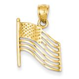 American Flag Pendant 14k Gold K2805