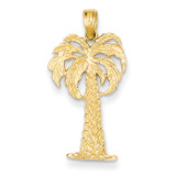 Palm Tree Pendant 14k Gold K2887