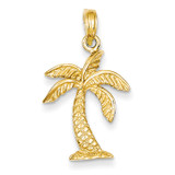 Palm Tree Pendant 14k Gold K2894