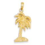 Palm Tree Pendant 14k Gold K2895