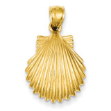 Scallop Shell Pendant 14k Gold K2919