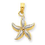 Starfish Pendant 14K Gold & Rhodium K2953
