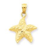 Starfish Pendant 14k Gold K2954