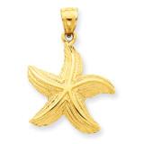 Starfish Pendant 14k Gold K2962