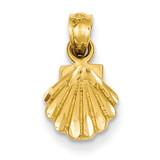 Scallop Shell Pendant 14k Gold K2965