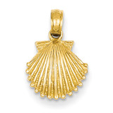 Scallop Shell Pendant 14k Gold K2967