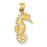 Seahorse Pendant 14k Gold K2980