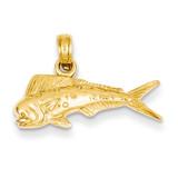 Mahi Mahi Fish Pendant 14k Gold K3034