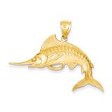 Marlin Pendant 14k Gold K3040
