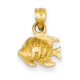 Fish Pendant 14k Gold K3048