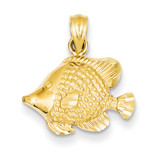 Fish Pendant 14k Gold K3051