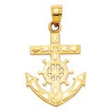 Mariner's Cross Pendant 14k Gold K3076