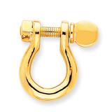 Large Shackle Link Pendant 14k Gold K3084