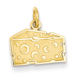 Swiss Cheese Charm 14k Gold K3145