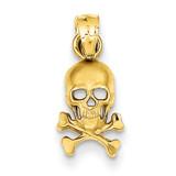 Skull and Cross Bones Pendant 14k Gold K3163
