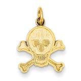 Skull & Bones Charm 14k Gold K3164