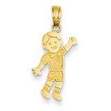 Boy Pendant 14k Gold K3173