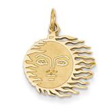 Flaming Sun Charm 14k Gold K3194