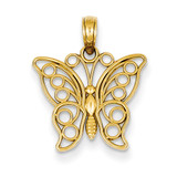 Cut-out Butterfly Large Pendant 14k Gold K3243