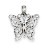 Cut-Out Butterfly Pendant 14k White Gold K3244
