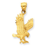 Eagle Pendant 14k Gold Diamond-cut K3273