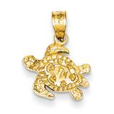 Turtle Pendant 14k Gold K3298
