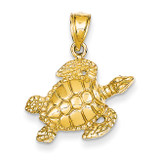 Sea Turtle Pendant 14k Gold K3308
