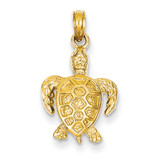 Sea Turtle Pendant 14k Gold K3309