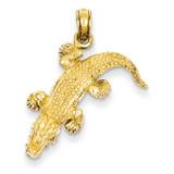 Alligator Pendant 14k Gold K3313
