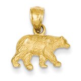 Bear Pendant 14k Gold Diamond-cut K3320