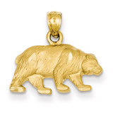 Bear Pendant 14k Gold Diamond-cut K3321