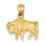 Buffalo Pendant 14k Gold Diamond-cut K3329