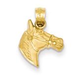 Horse Pendant 14k Gold Diamond-cut K3336