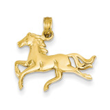 Horse Pendant 14k Gold K3338