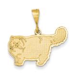 Persian Cat Pendant 14k Gold K3369