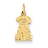 Puppy Charm 14k Gold K3385