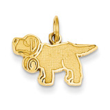 Saint Bernard Charm 14k Gold K3388