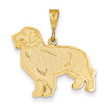 14k Golden Retriever Pendant 14k Gold K3401