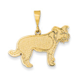 Border Collie Pendant 14k Gold K3407