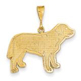 Labrador Dog Pendant 14k Gold K3409