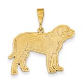 Mastiff Pendant 14k Gold K3415